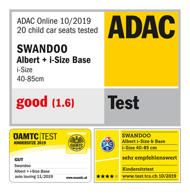 Swandoo Albert I-Size - Yeşil & Beyaz - Thumbnail